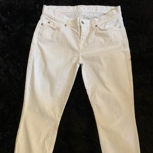 NWOT 7 For All Mankind Gwenevere White Jean 29